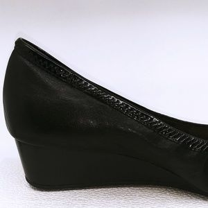 Cole Haan Shoes - Cole Haan Wedge Pump Patent Leather Tip Black 9.5